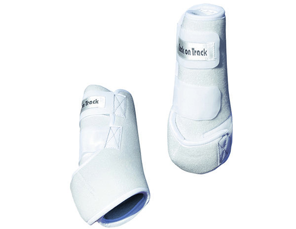 white exercise boots