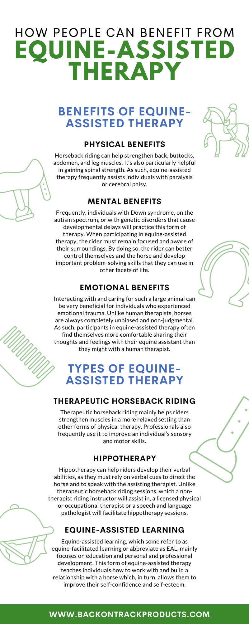 How People Can Benefit from Equine-Assisted Therapy infographic